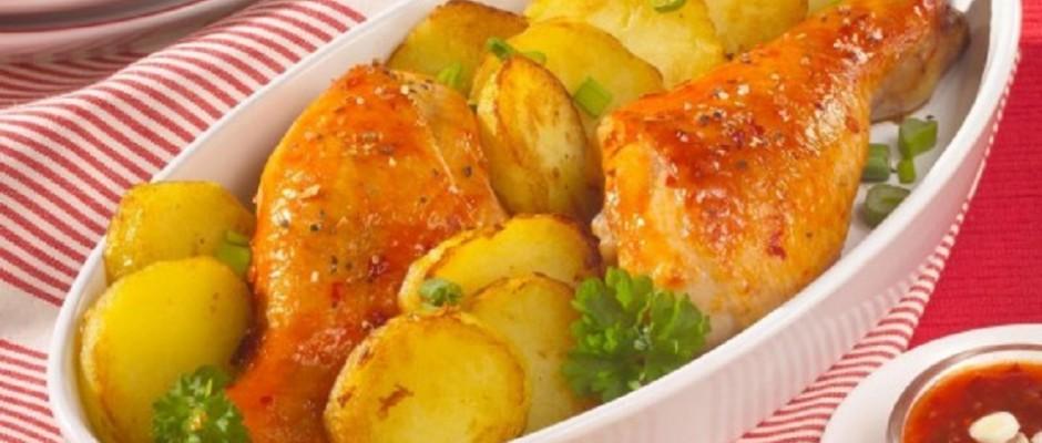 friptura de pui cu cartofi
