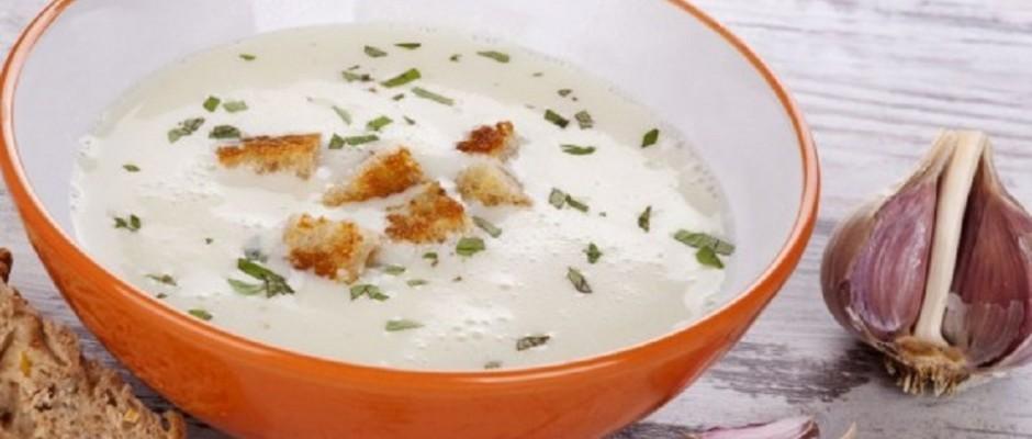 supa-crema cu usturoi