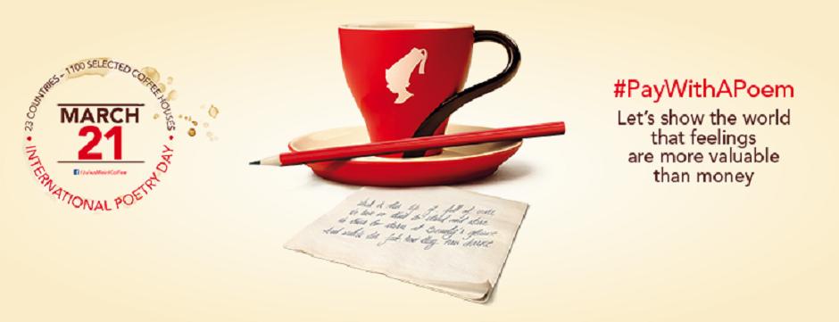 plateste o cafea cu o poezie