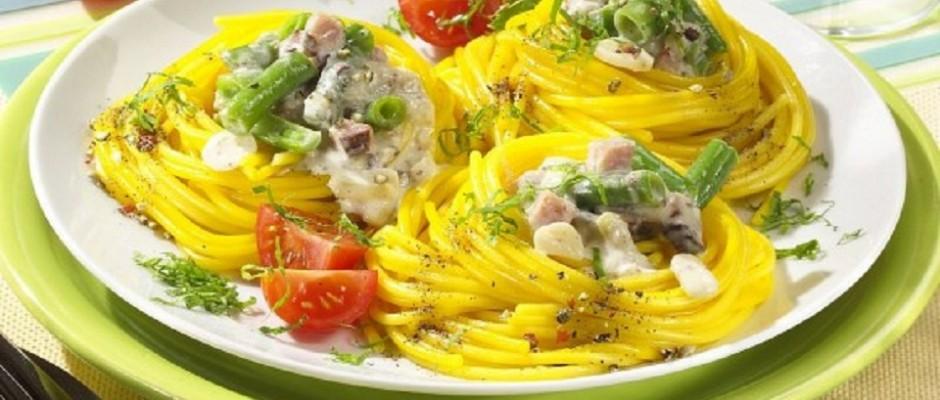 spaghete cu piept de pui si ciuperci