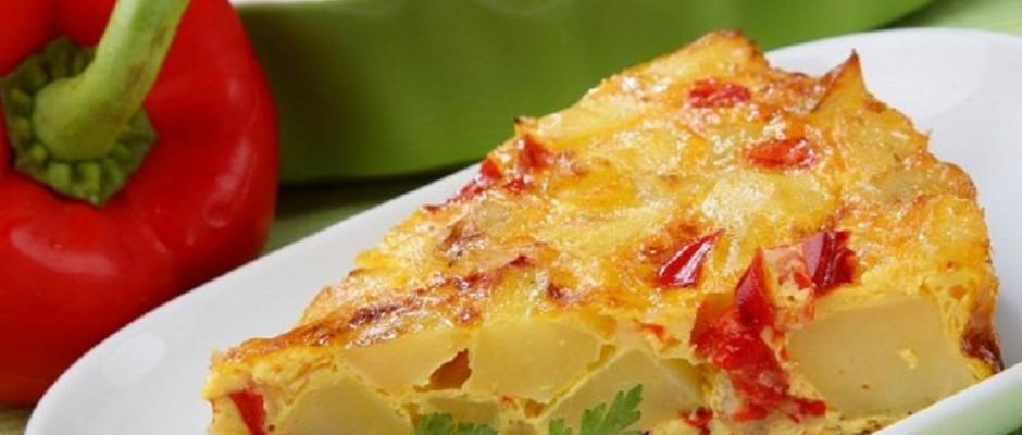 tarta de cartofi cu ardei gras