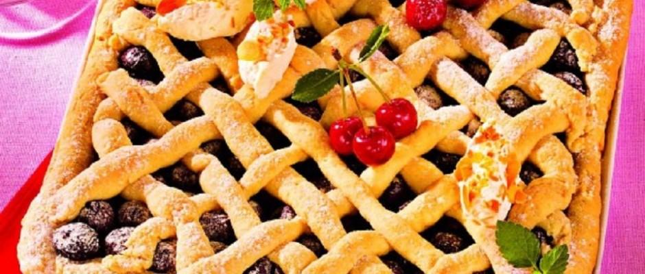 tarta de vanilie cu cirese