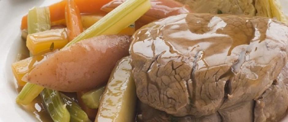 medalion de vitel cu legume