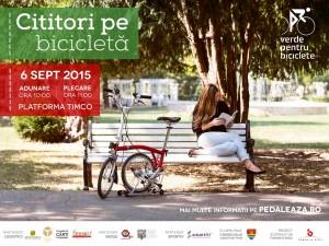 Afiș Cititori pe bicicletă  2015 2.1