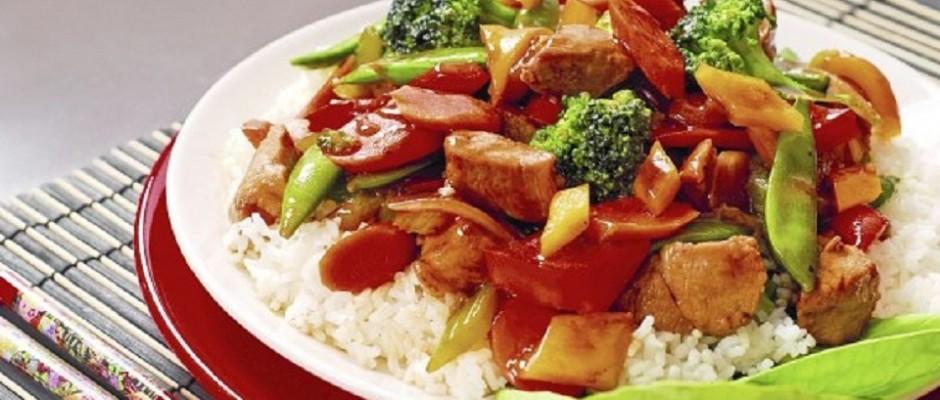 carne de vita cu sote de legume